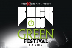 Rock on Green Poster