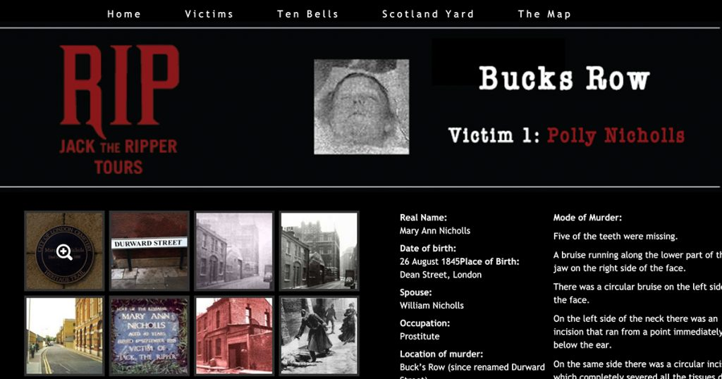 RIP: Jack the Ripper Tours